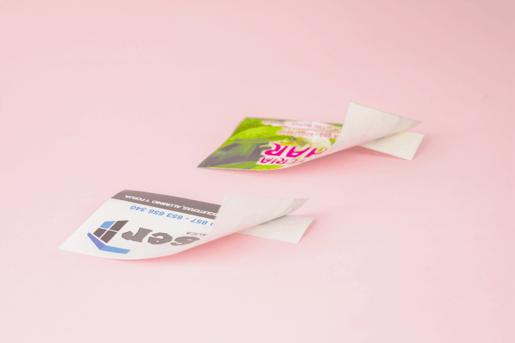pegatinas de papel baratas imprimir económico