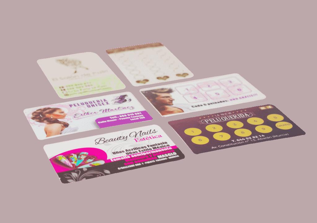 tarjetas de fidelización que permiten la escritura o fijar un sello