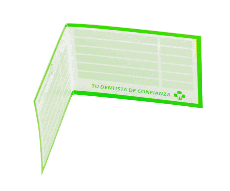 Tarjeta libro de fidelización