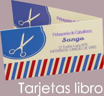 tarjetas de visita libro, plegables imprimir economico