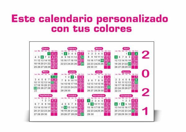 Calendarios 2021 de bolsillo baratos