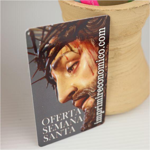 tarjeta vertical para semana santa imprimir economico