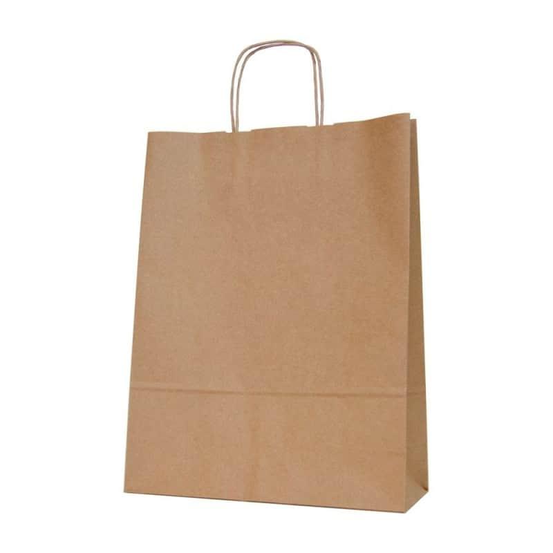 bolsa de papel kraft-marron-con-asa-retorcida-3212x42-cm