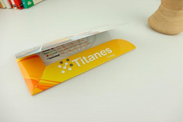 Carpetillas Porta Billetes para agencias de viajes